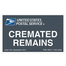 cremation remains cremated remains label usps