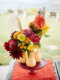 Flower Vases Centerpieces 37 Easy Fall Flower Arrangement Ideas Hgtv