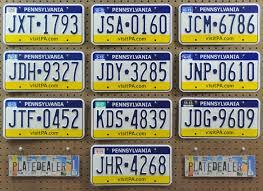 Pa Vanity Plates Pennsylvania Vanity Plate Instavanity Us