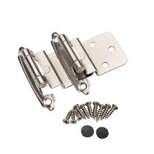how to update cabinet hinges 25 pair 50 pcs self closing cabinet 3 8 offset inset hinges satin nickel 62726 walmart
