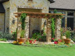 Pergola Landscaping Ideas by Landscaping Stone Landscaping Ideas For Front Yard