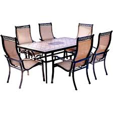Dining Room 7 Piece Sets Hanover Monaco 7 Piece Aluminum Outdoor Dining Set With