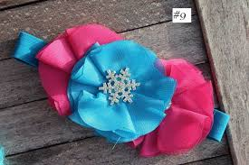 frozen headband new frozen hair band flower headband elsa bow elastic nwt
