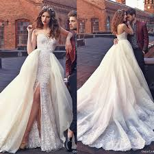 wedding dress with detachable galia lahav wedding dresses with lace applique 2016