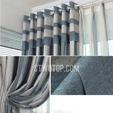 Grey And Blue Curtains Blue And Grey Vertical Striped Panel Curtains