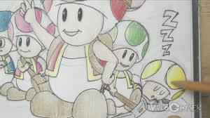 draw toad brigade super mario galaxy 1 2