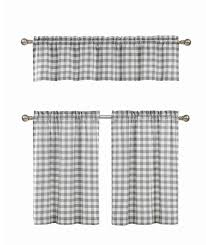 Checkered Shower Curtain Black And White by Gray U0026 White Cotton Blend Gingham Tartan Country Plaid Kitchen