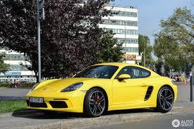 porsche cayman yellow porsche 718 cayman s 1 october 2016 autogespot