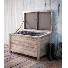 garden trading outdoor wooden storage box outdoor accessory