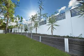 Myhomeideas by Ridgi Ironbark Concrete Sleepers And Galvanised Steel Posts 3