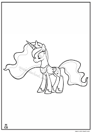 pin magic color book pony coloring pages free