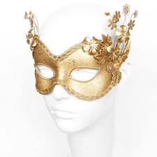 mask for masquerade party gold lace masquerade mask metallic from soffitta on etsy