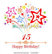 happy birthday card celebration background number stock vector