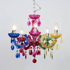 Colored Chandelier Colored Chandelier Acrylic Crystals Plastic Jeanbolen Info