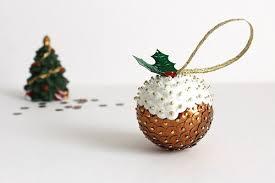 handmade christmas pudding sequin christmas tree decoration
