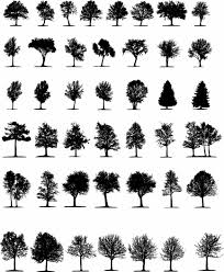 free vector a variety of trees silhouette vector check out free