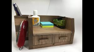 Oak Desk Organizer by Two Drawer Walnut Desk Organizer Youtube