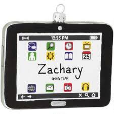 personalized laptop computer glass ornament bronner s