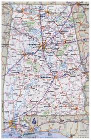 Interstate Map Of United States by Large Detailed Roads And Highways Map Of Alabama State With All