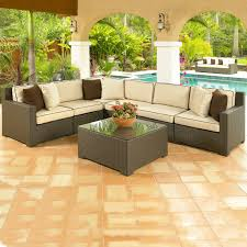 Wicker Sectional Patio Furniture by Malibu 8 Piece Wicker Sectional Sofa Set