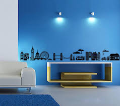 Beautiful Wall Stickers For Room Interior Design Buy Decals Design U0027modern Town Silhouettes U0027 Wall Sticker Pvc