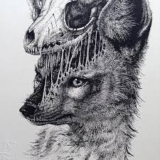 artist creates stunning anatomical sketches of animals leaving