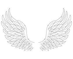 angel wings drawing how to draw angel wings in simple steps