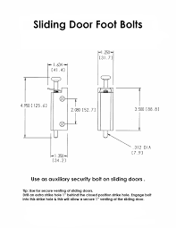 9 Foot Patio Door by Fpl Sliding Door Lock Security Foot Bolt In White Quickly And