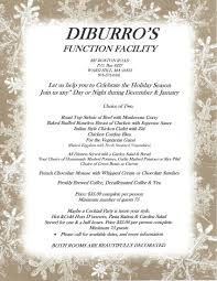 holiday menu for our function hall in haverhill ma
