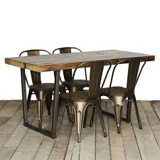 Wood And Metal Dining Chairs Dining Room Fascinating Reclaimed Wood Dining Table For Your