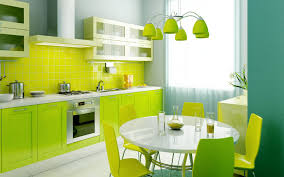 kitchen bright green kitchen