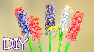How To Make Floral Arrangements Step By Step Diy Curly Paper Flowers How To Make Swirly Paper Hyacinths Youtube