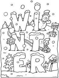 Preschool Colouring Sheet Winter Winter Kleurplaat Boyama Winter Coloring Pages Free