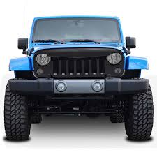 jeep grill logo angry amazon com e autogrilles 07 16 jeep wrangler jk abs gloss black