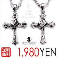womancollection rakuten global market necklace mens cross