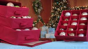 paula deen collection holiday ornament organizer by jokari youtube