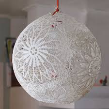 How To Make Paper Mache Belly Cast - diy pendant ls white ribbon ceilings and wedding