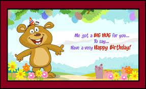 happy birthday big hug greeting card coloring pages free