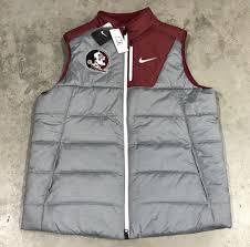 Florida Travel Jacket images Nike florida state seminoles fsu player full zip vest gray sz l jpg