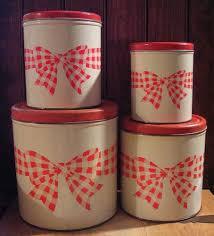 28 best red kitchen canister sets images on pinterest vintage
