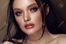 professional make up fashion stylish beauty portrait beautiful up