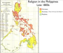 Philippine Map Map Of Religion In The Philippines In The Late 1800s 1644 1400