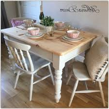 white shabby chic dining set dark brown luxury teak wood table