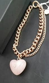rose gold heart charm bracelet images Michael kors rose gold tone carved heart pink quartz charm jpg
