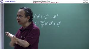 lecture at iiser mohali 1nov2016 geometry of space time youtube