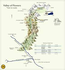 Himilayas Map Valley Of Flowers And Hemkund Trek Indiahikes