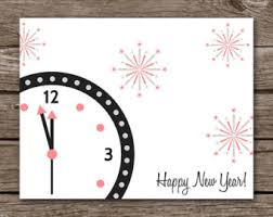 happy new year note cards card happy new year etsy