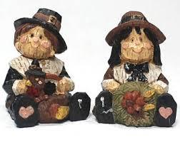 thanksgiving pilgrim statues pilgrim figurines etsy