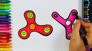 how to draw and color a fidget spinner fidget spinner colouring