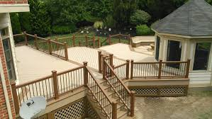 contractor shout out this beautiful tiered deck featuring trex